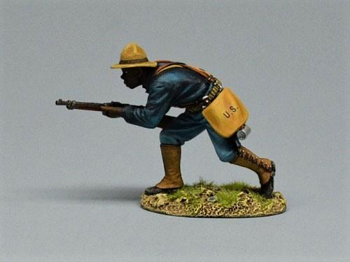 10th Cavalry Soldier Moving Forward
