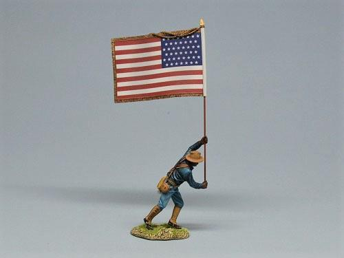 Soldier with American Flag, 1896-1908