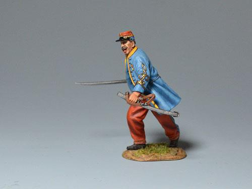 Officer of the Zouaves, Commanding