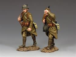 Marching French Infantrymen