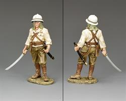 Standing officer w/ Sword Drawn