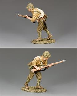 Asvancing Japanese soldier