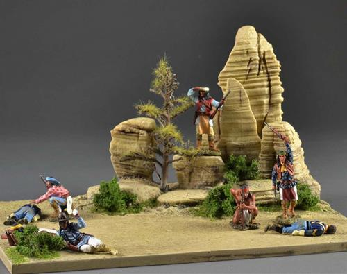 Desert diorama 33,5x33,5cm (Figures and Vehicles not incl.)