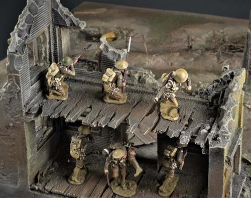 Battlefield and ruin - diorama