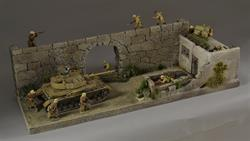 North African wall/house - diorama