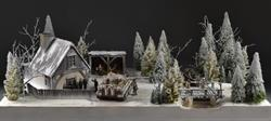 Russian forest house - diorama