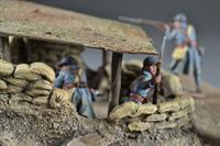 Battlefield w / fortification - diorama, 33x24x9 (Figures not included)