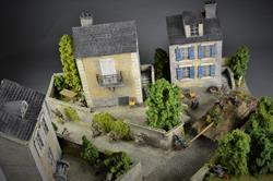 Village in Normandy Diorama, 72,5x56,5x4cm (Figures and vehicles not included)