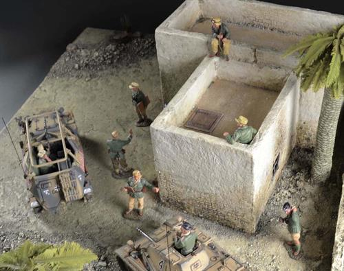North African house - diorama